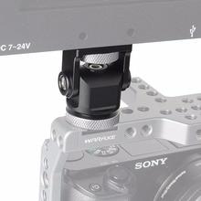 Крепление для монитора на камеру панорамирование на 360 градусов наклон на 180 градусов с креплением для холодного башмака и штативной головкой на 1/4 дюйма