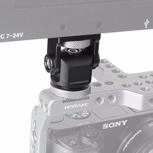 Monitor de Suporte de Montagem em Câmera Pan 360 Graus de Inclinação de 180 Graus com o Sapato Frio Montar e 1/4 ''Montar Tripé cabeça