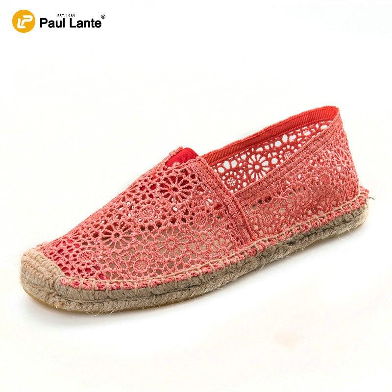 Nuevo Verano de Las Mujeres de Lona Ocasionales Alpargatas Zapatos Planos Del Cordón Suela de Yute