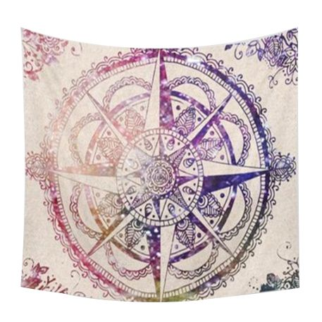 83e3b6fd8704fd 150*200cm Indian Mandala Tapestry Totem Compass Printing Beach Towels Yoga  Mat Sun Block Round Bikini Cover Up Blanket(purple)-in Tapestry from Home  ...