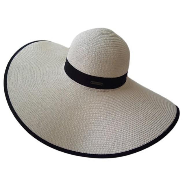 827ee17e42d New Summer Fashion Women s Ladies  Foldable Wide Large Brim Floppy Summer  Sun Beach Hat Straw Hat Cap