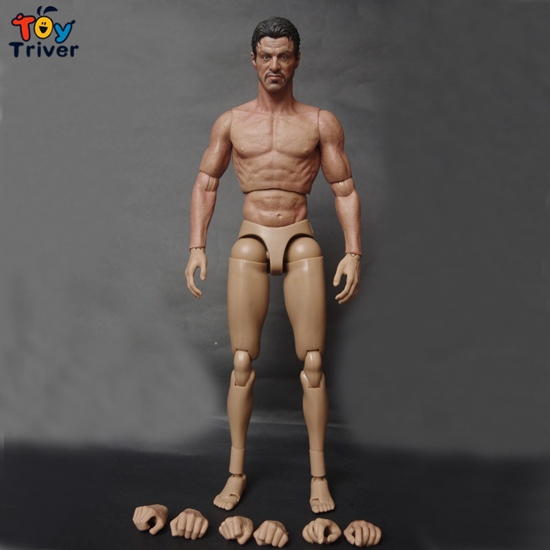 1/6 Scale Muscular Figure Body With Stallone Head Compatible with Hot Toys Model Set
