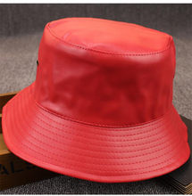 6fc4ae54 LDSLYJR 2018 leather Thicken solid Bucket Hat Fisherman Hat outdoor travel  hat Sun Cap Hats for