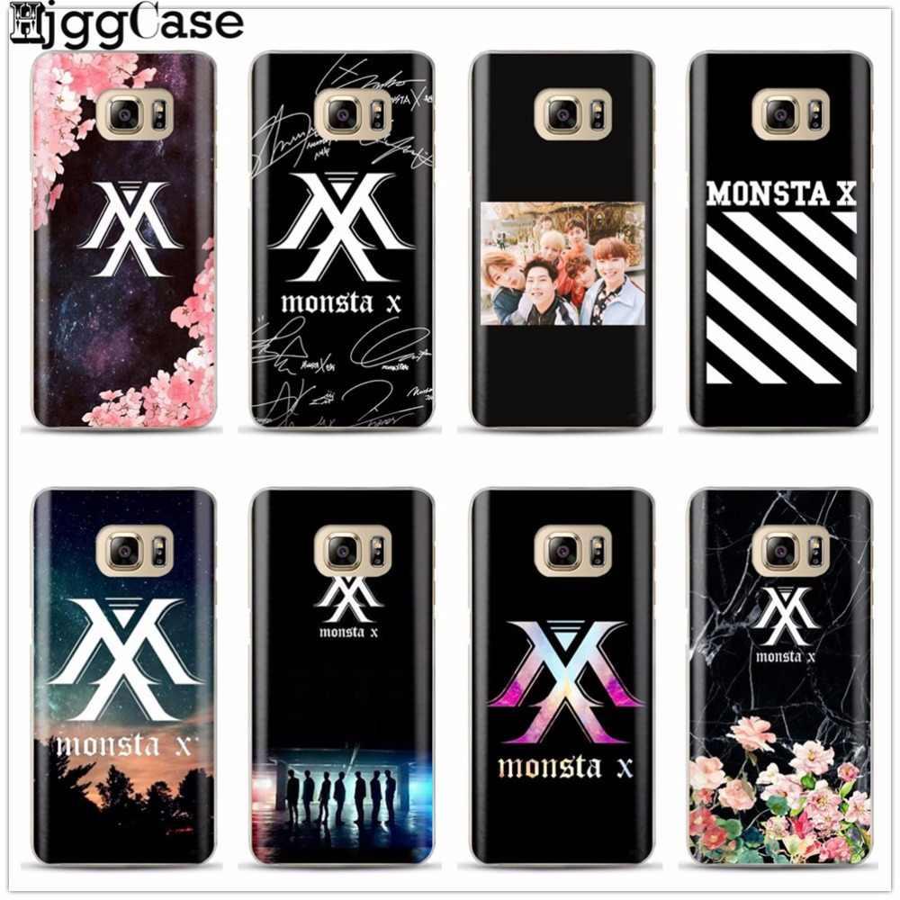 Monsta X KPOPเด็กกลุ่มปกกรณีโทรศัพท์สำหรับS Amsung G Alaxy S6 S7ขอบS8 S9บวกJ2 J3 J5 J7 A3 A5 A7 2016 2017 A8บวก2018