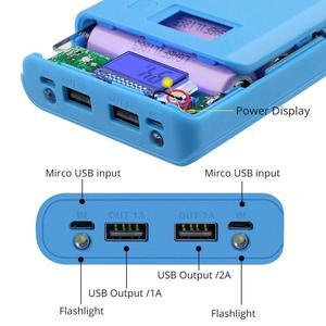Image 4 - New DIY 8x18650 Portable Battery Power Bank Shell Case Box LCD Display Dual USB Powerbank Box KIT Powerbank 18650(No Battery)