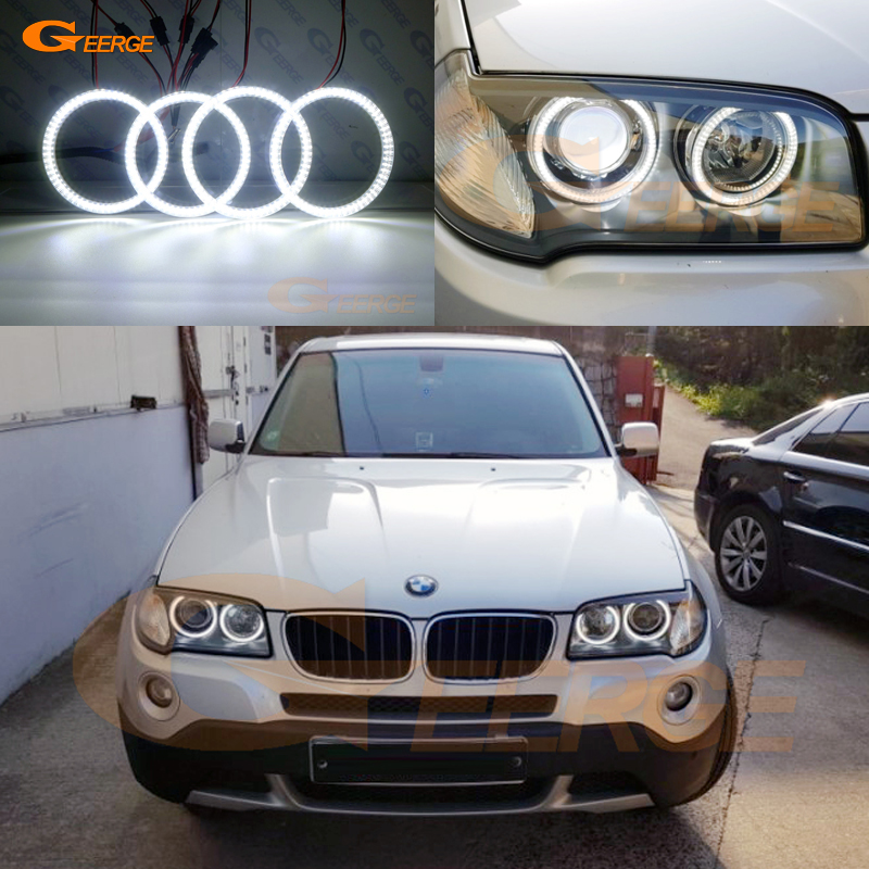 Для BMW E83 X3 2007 2008 2009 2010 ксенон отличное Ультра яркое освещение smd led Ангельские глазки комплект DRL