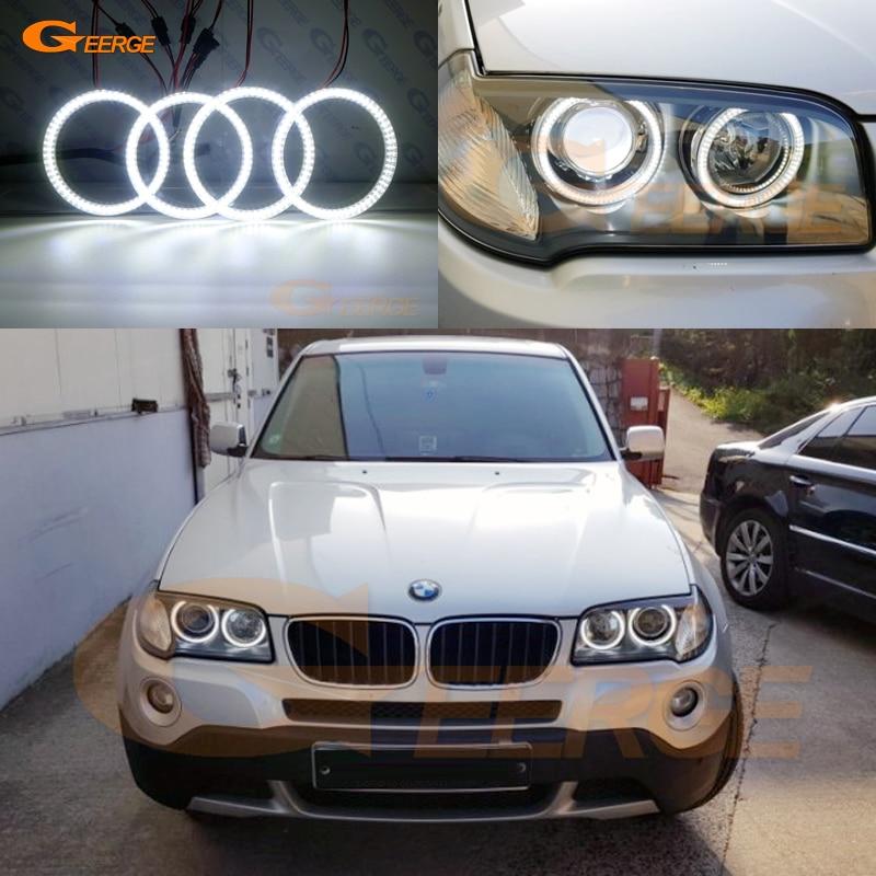 Pour BMW E83 X3 2007 2008 2009 2010 phare xénon Excellent éclairage Ultra lumineux smd led Angel Eyes kit DRL