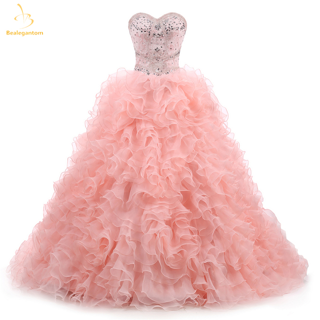 7572ac5747 US $185.49 30% OFF|Bealegantom New Sweetheart Quinceanera Dresses 2019 Ball  Gown With Beaded Crystal Sweet 16 Dress Vestidos De 15 Anos QA1308-in ...