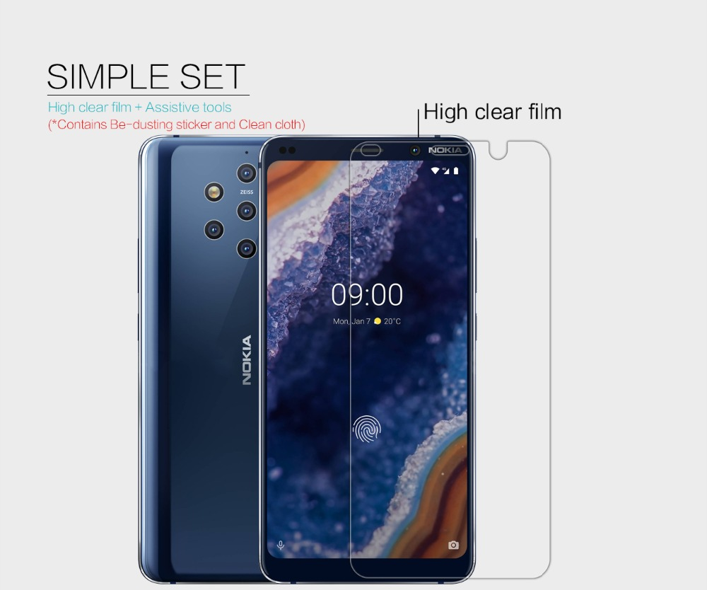 Nokia 9 PureView Screen protector NILLKIN super clear lcd Protective Film & Matte Screen Protection for Nokia 9 PureView