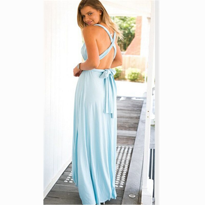 3b163555ae25d US $12.44 32% OFF Dress Women 2019 Long Summer Convertible Bohemian Dresses  Casual Bandage Evening Prom Club Party Infinity Multiway Maxi Dresses-in ...