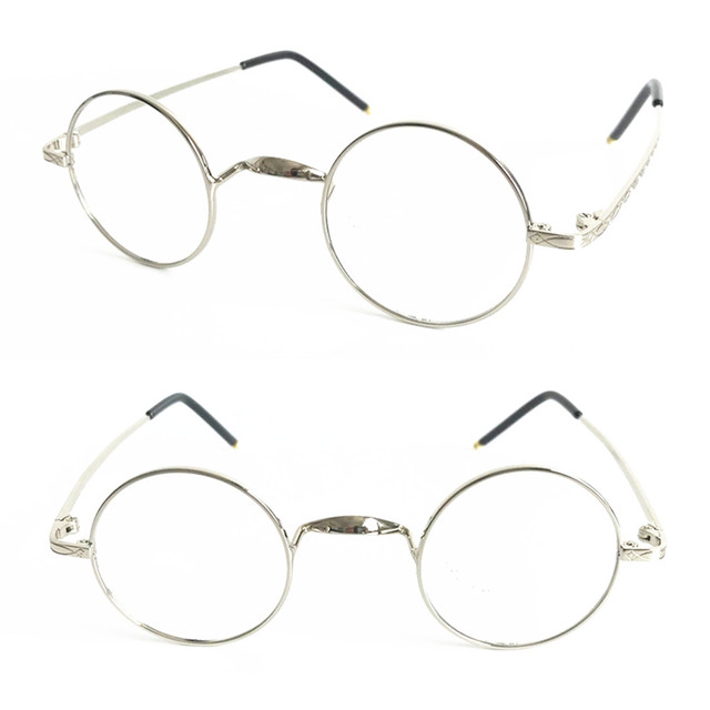 46110844f0 Vintage Reading Glasses Small Round 40 42mm Men Women Full Rim Metal +25  +50 +75 +100 +125 +150 +175 +200 +225 +250 +275 +300 +6
