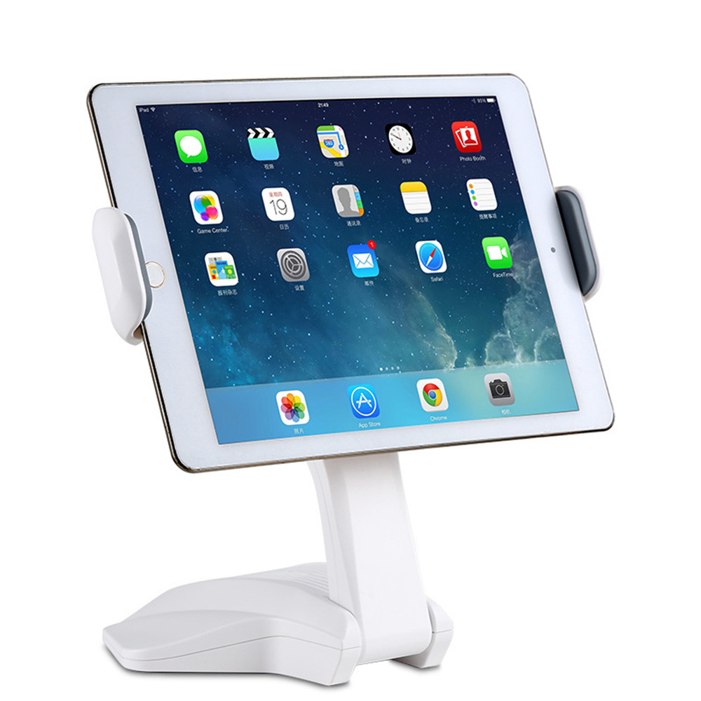 Desktop Slacker Stent Stand for 7 to 15 inch Phone Tablet 157 to 260mm Adjustable Clip Holder for iPad 2 3 4 mini air Xiaomi ss 2 desktop stand clip for 5 7 cell phone tablet pc black