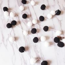 Wall Hanging String with Wool Balls