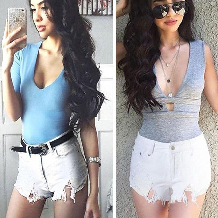 Jeans Shorts Ripped Feminino Sexy High-Waist Summer Plus-Size Denim Hot Bottoms Designer