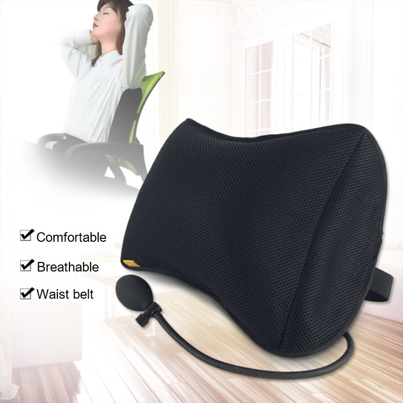 Portable Lumbar  Pillow For Car And Office Chair With Pump Massage To improve posture 5