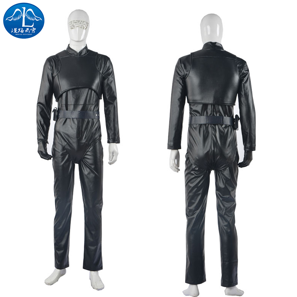 ManLuYunXiao Cosplay Costume Luke Skywalker Cosplay Costume Star Wars Cosplay Men's Jumpsuit Black Custom Made Free Shipping