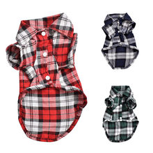 Nieuwe Mode Plaid Hond Shirts T-shirt Zomer Pet Cat Outfit Puppy Kleding voor Kleine Honden Franse Bulldog Pugs Chihuahua Kleding(China)