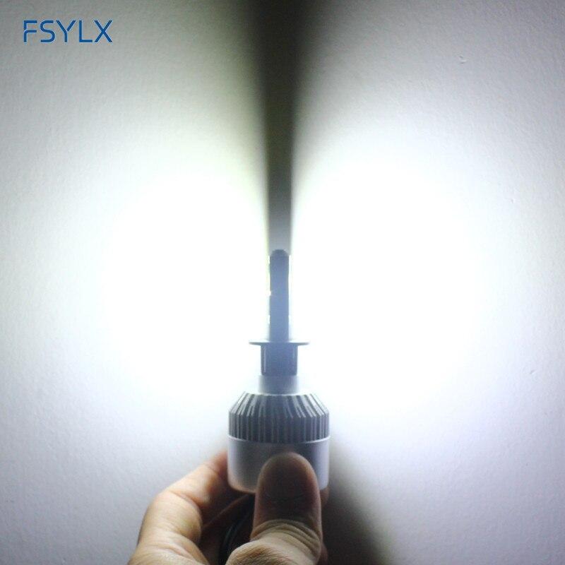 FSYLX 72W 16000lm H1 LED žarometi H1 avto LED dnevne vožnje luči - Avtomobilske luči - Fotografija 6