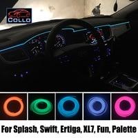 9M EL Wire For Suzuki Splash / Swift / Ertiga / XL7 / Fun / Palette / Car Romantic Atmosphere Lamp / Flexible Neon Cold Light