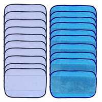 20pcs Lot Washable Reusable Replacement Sweeping Mopping Cloths 10 Wet 10 Dry Microfiber Cleaning Cloth Cleaning