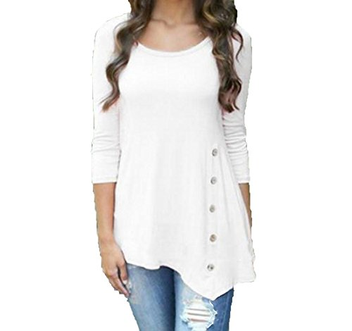 20ef25596c1a4 Womens To Wear With Leggings Long Sleeve Slim Fit Shirt-in T-Shirts ...