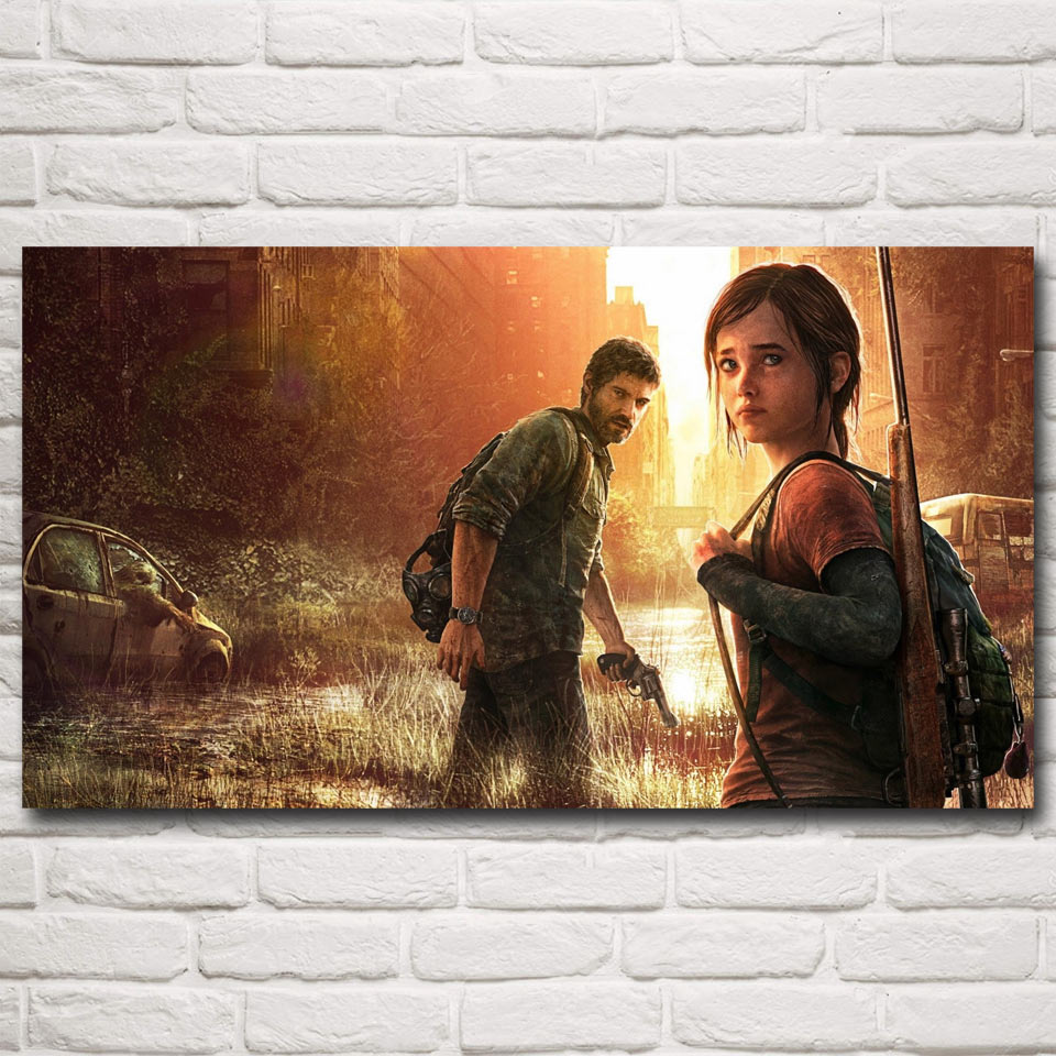 The Last of Us Zombie Survival Horror Action Game Art Silk Poster Home Decor Painting 11x20 16x29 20x36 Inches Free Shipping