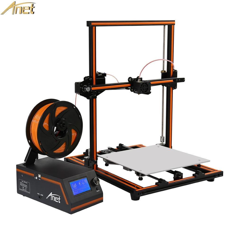 Anet E12 E10 3D Printer DIY High Precision 0.4mm Nozzle Extrude Reprap Prusa i3 3D Printer Kit with PLA Filament Impresora 3DAnet E12 E10 3D Printer DIY High Precision 0.4mm Nozzle Extrude Reprap Prusa i3 3D Printer Kit with PLA Filament Impresora 3D