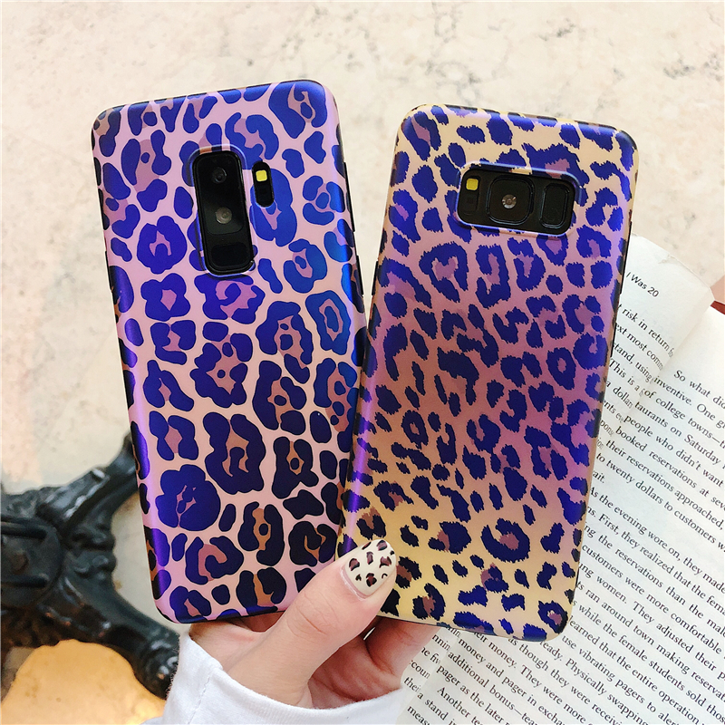 Note 9 Case Leopard Print Bluray Phone Case for Samsung Galaxy S7 edge S8 S9 S10 Plus Note 8 Capa Fashion Silicone Covers Funda Аппаратный порт