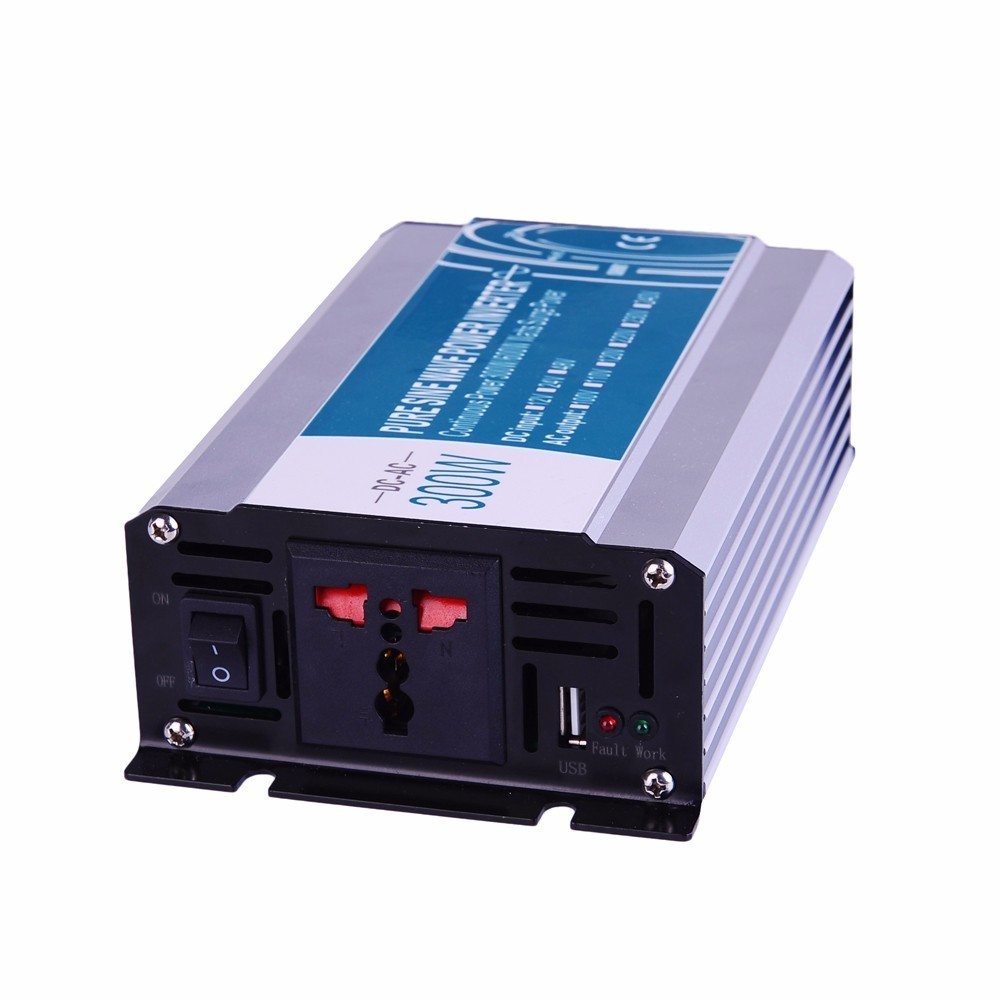 300W Pure Sine Wave Inverter DC 12V/24V/48V To AC 110V/220V,off Grid Inversor Power Inverter Work In Solar Battery Panel 2000w pure sine wave inverter dc 12v 24v 48v to ac 110v 220v off grid power inverter work with solar wind battery panel