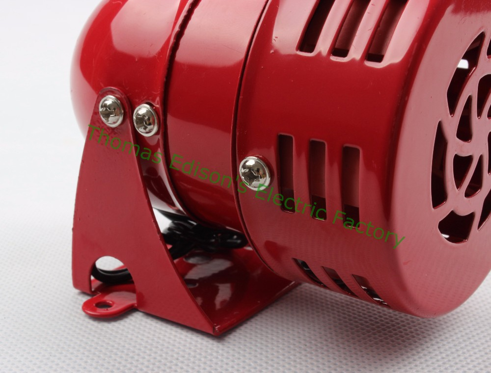 AC 220V DC 12V MS-190 Automotive Air Raid Siren Horn Car Truck Motor Driven Alarm Red Universal Car Horn for Pickup Truck red high quality 12v 3 automotive air raid siren horn car truck motor driven alarm red siren alarm with retail box