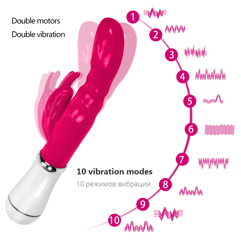 ALI shop ...  ... 32995447746 ... 2 ... Erotic G-Spot Dildo Rabbit Vibrator For Women Vagina Clitoris Massager Masturbation Sex Toys For Women Adult Games Sex Products ...