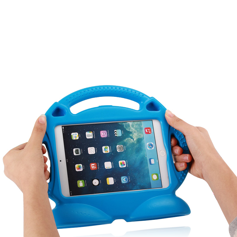 все цены на  Case for ipad mini 1 / 2 / 3 Thomas handgrip stand Shock Proof EVA full body cover Kids Children Safe Silicone para shell coque  онлайн