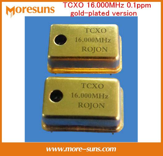 Fast Ship Livre Som diy ppm TCXO alta precisão baixo ruído de fase 16.000 MHz/16.9344 MHz/22.5792 MHz 0.1ppm Gold-plated TCXO