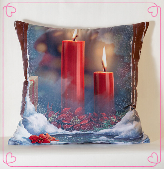 Christmas Candle Cushion Throw Pillow For Sofa Home Decor Chair Couch  Lovely Outdoor Fundas Cojines Coussin