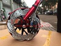 Личность мотоциклов передняя вилка/Подвеска/амортизатор с тормозом Системы и обод колеса один комплект для Yamaha скутер изменить