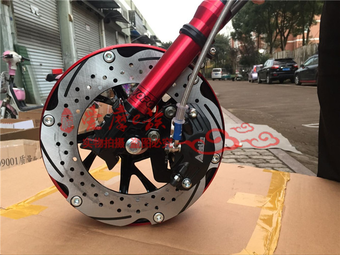 лучшая цена Personality Motorcycle Front Fork/suspension/shock Absorber With Brake System And Wheel Rim One Set For Yamaha Scooter Modify