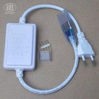 10 개 3528 & 5050 RGB LED 스트립 컨트롤러 플러그 테이프 문자열 리본 번들 다채로운 조명 램프 버튼 적용 AC110V-220V