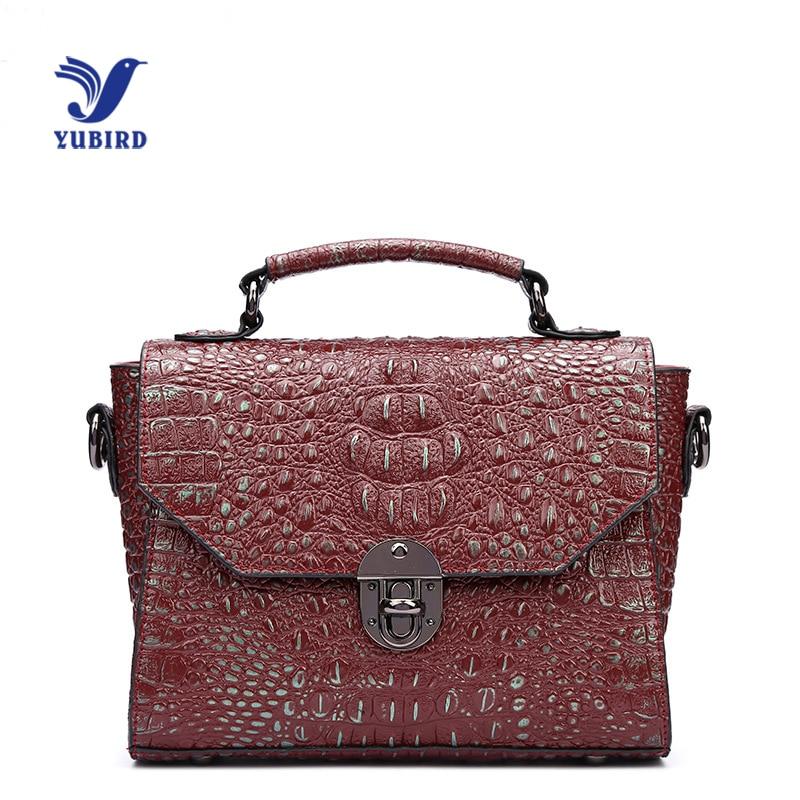 YUBIRD Genuine Leather Women Handbag Shoulder Bag Alligator Print Lady Handbags Messenger European High Quality Free Shipping железный человек 2