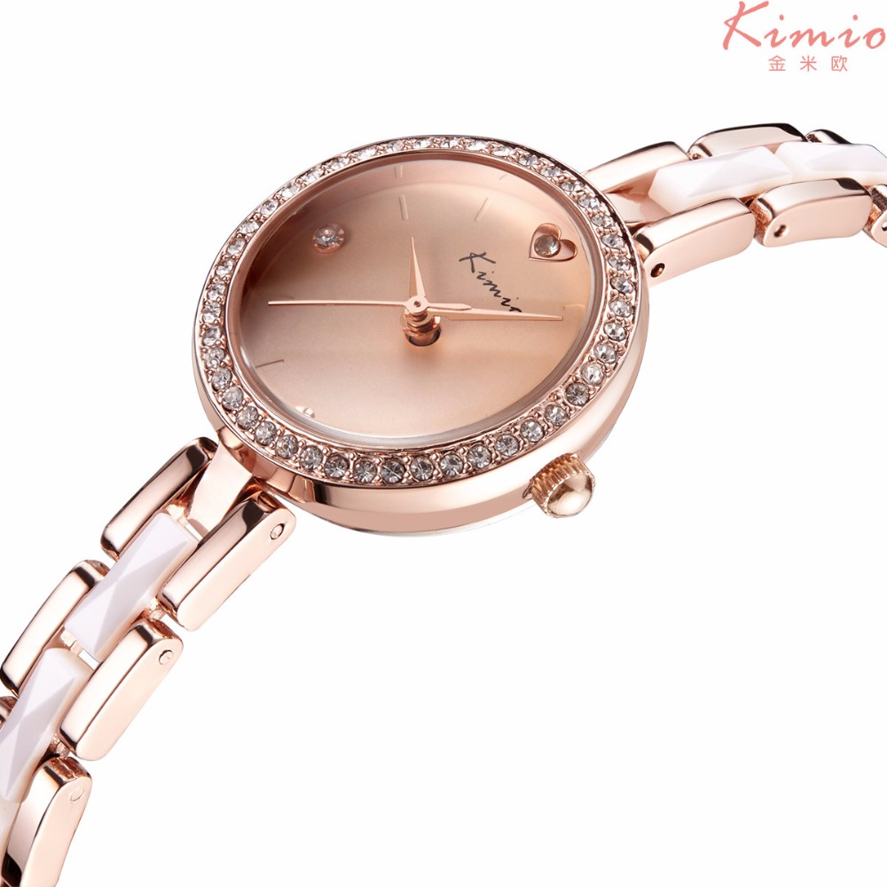 Подробнее о Kimio fashion luxury brand women dress watches Rhinestones crystal ladies analog quartz watch rose gold montre femme clock women 2017 hodinky kimio brand fashion women analog quartz watch luxury ladies pearl crystal wrist watch relojes mujer montre femme