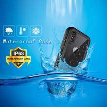 For iphone XS Max Case IP68 Waterproof for Cover Diving Underwater PC + TPU Armor XSMax XS+