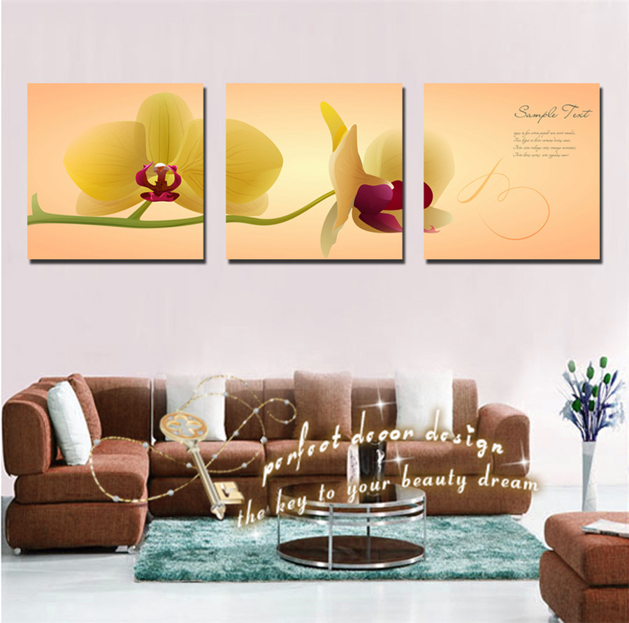 Home Decor Samples: 3PCS A Set Painting On Wall Decor Our Room Good Luck