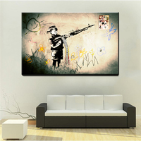 xdr072Graffiti Art Painting Street Canvas Painting Banksy Kis Print Canvas Posters HD Printed Picture For Bedroom Decor