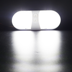 Image 5 - 1Pcs 12V Car LED Dome Light Plastic Interior Roof Ceiling Reading Lamp for RV Boat Yacht Camper