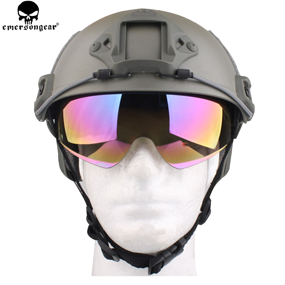 EMERSONGEAR Fast Helmets Protective Goggle Helmet Accessories Replacement Goggle Hiking Eyewear Glasses EM8817