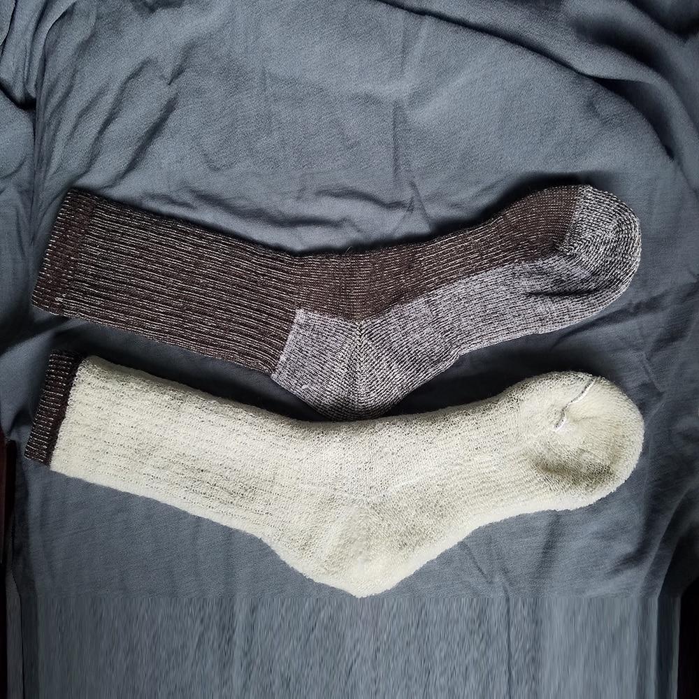Men's Australian Merino Wool Fleece Woolen Thermal Warm Christmas Winter Athletics Breathable   Socks   For Male 41-46 One Pair