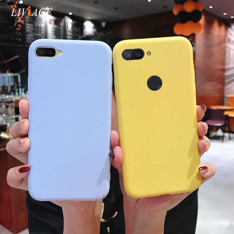 matte candy color silicone phone case on for oppo k1 f5 f7 f9 r15 r17 pro realme 2 pro a73 a3s a57 a37 f1s a83 back cover