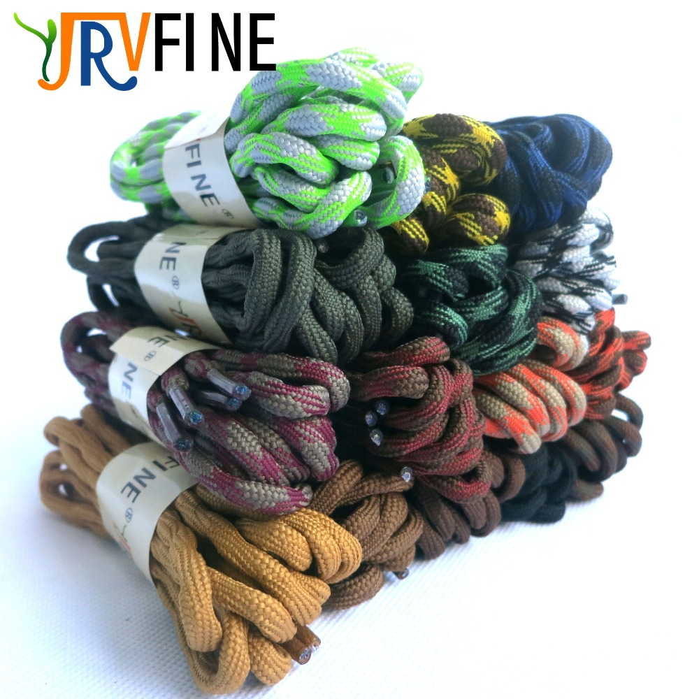 YJRVFINE 1 Pair Wave Design Abrasion Resistant Anti-slip Outdoor Shoe Laces Climbing Shoelaces Round Hiking ShoeLaces for Shoes играем вместе набор для купания маша и медведь играем вместе