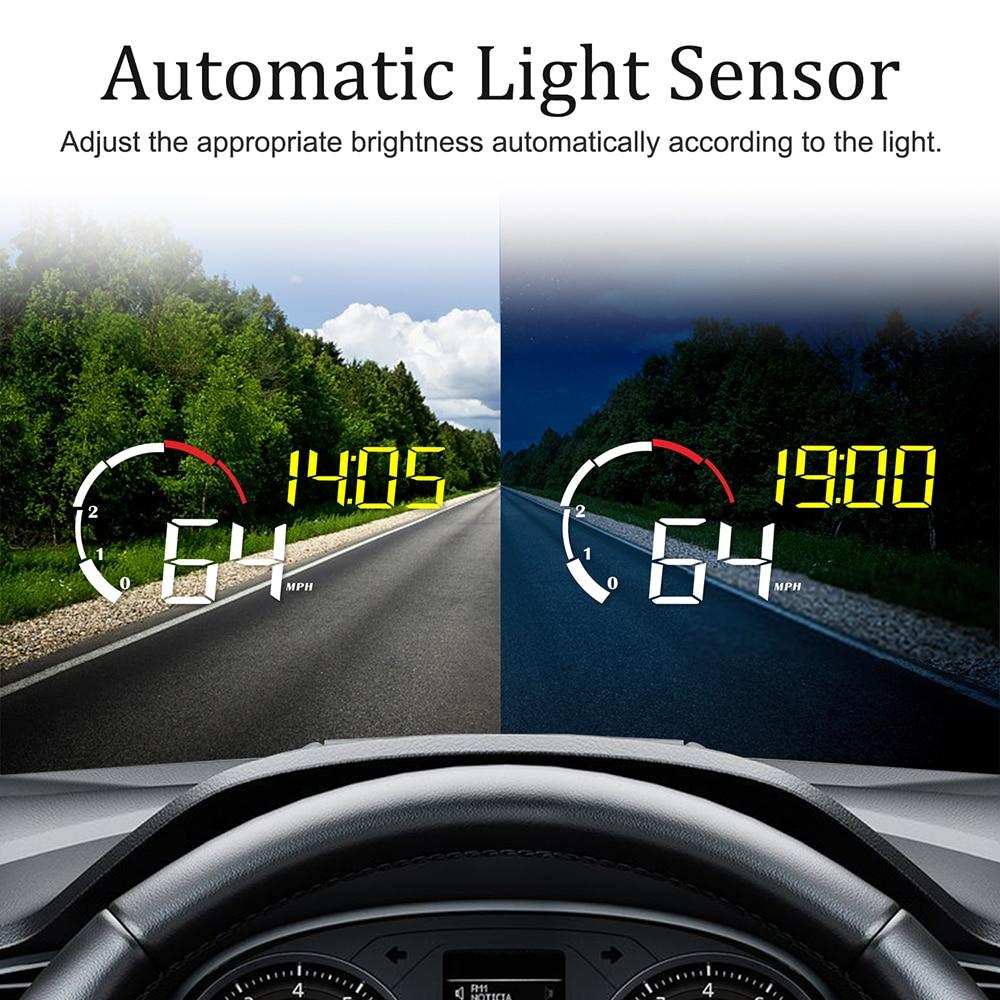 Image 3 - OBD2 Display Intelligent Alarm System Windshield Projector Universal Overspeed Warning Car Hud Display Car Multifunction M10 A10Head-up Display   -