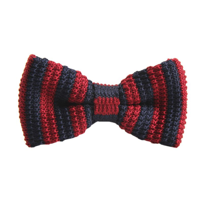 Men's Neck Ties Knitted Bowtie Bow Tie Thick Double Deck ...