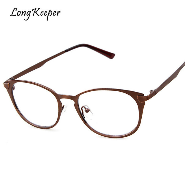 6fc2e5eec336 Long Keeper Cat Eye Women Glasses Frame 2018 Hot Sale Mens Eyeglasses  Reading Optical Frames Clear lens Metal Eyewares P5317